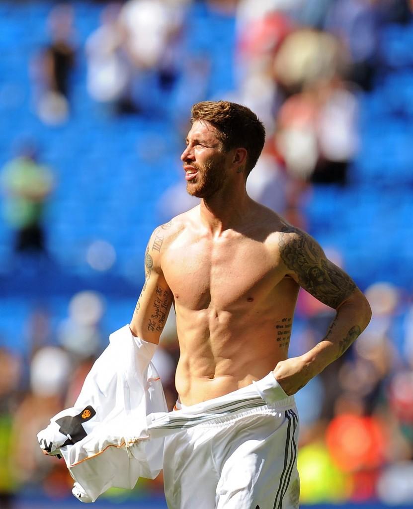 Calciatori Sergio Ramos che muscoli sexy in campo