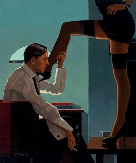 disegni vintage annusare le gambe della mistress