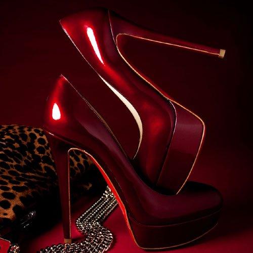 scarpe donna vernice rossa