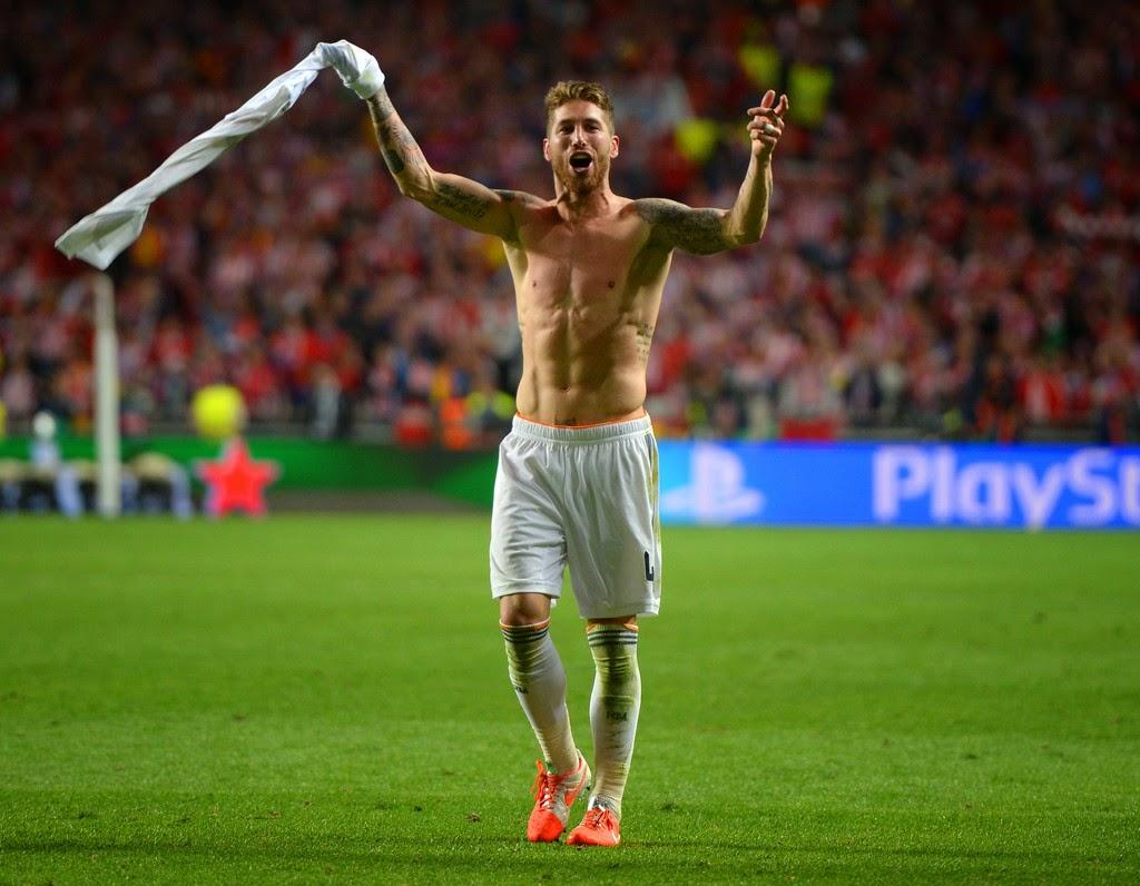 Calciatori Sergio Ramos che muscoli hot in campo