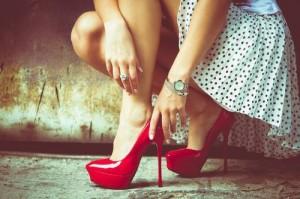 FOTO scarpe rosse