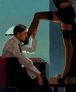 FOTO disegni vintage annusare le gambe della mistress